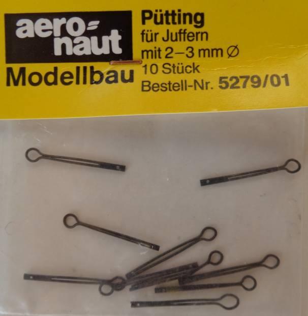 Pütting, Metall brüniert, für Juffern-Ø 2 - 3  mm, 10 Stück