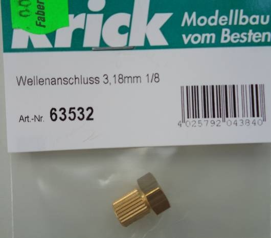 Wellenanschluß 3,18mm 1/8 (3,18 mm)