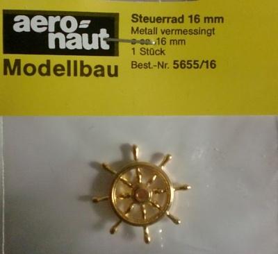 Steuerrad  Met.,  Außen-Ø des Rads 16 mm