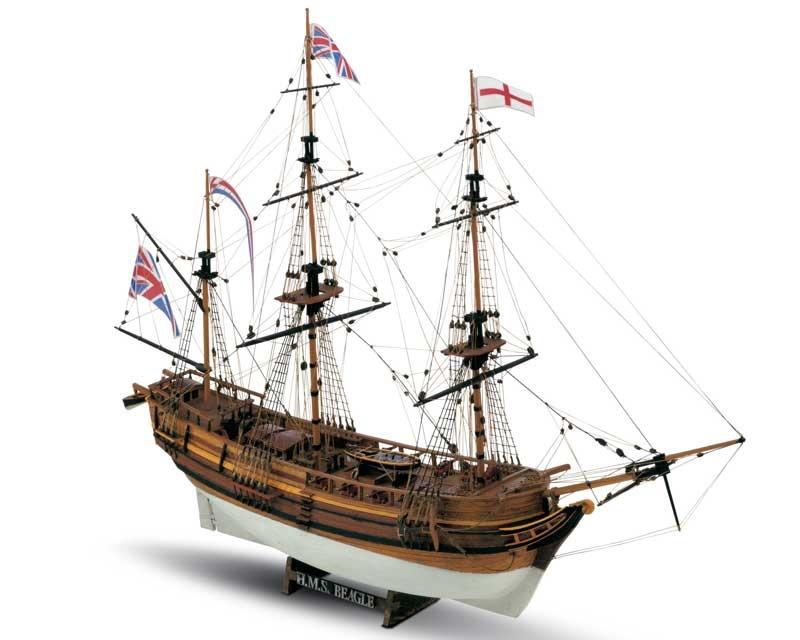 HMS Beagle Bausatz 1:64 Mamoli,  Länge 64,50 cm