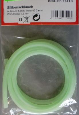 Silikonschlauch 5/2mm grün