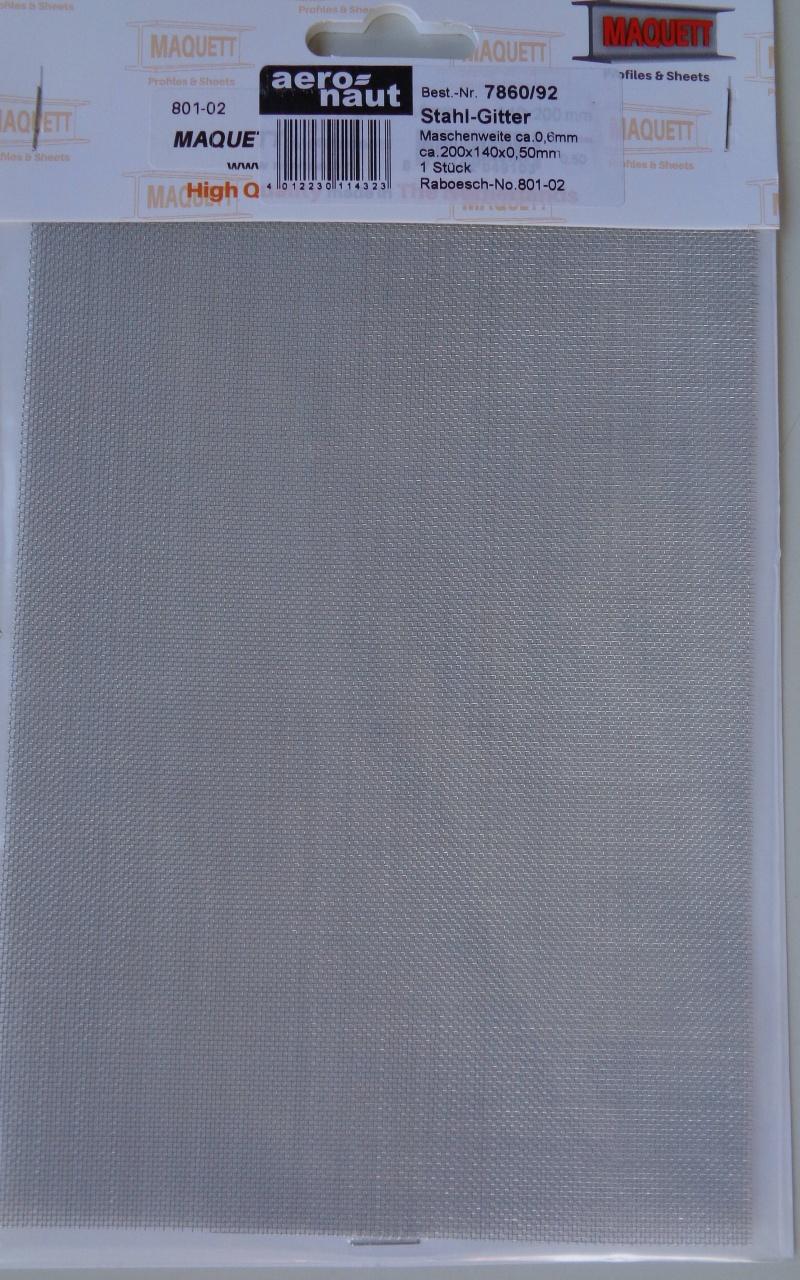 Gitter-Blech aus Metall, Stahl verzinkt, 1 Stück