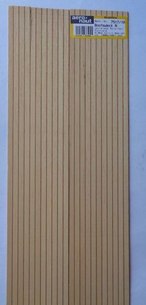BOOTSDECK 4,0h/4,0d, Länge 1 m, Breite 15 cm (2 x 7,5 cm)