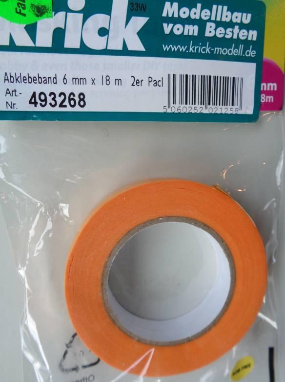 Abklebeband, Breite 6 mm, Länge 18 m,  2 Rollen
