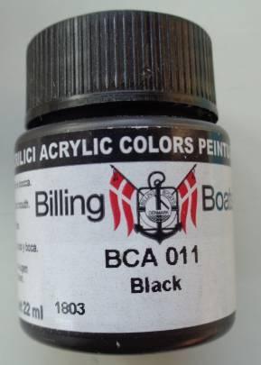 Schwarz 22 ml   Billing Boats Acryl Farbe