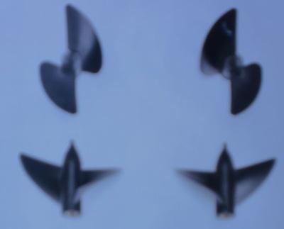 Rennschraube 2-Blatt, 33 mm, linkslaufend