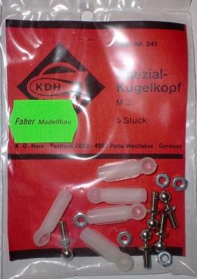Spezial-Kugelkopf für M 3, 5