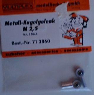 Metall-Kugelgelenk M 2,5,   2 Stück