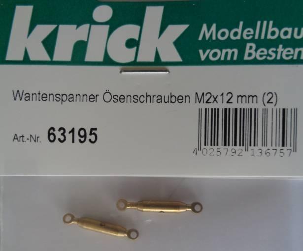 Wantenspanner mit Ösenschrauben M 2x12 mm (2)