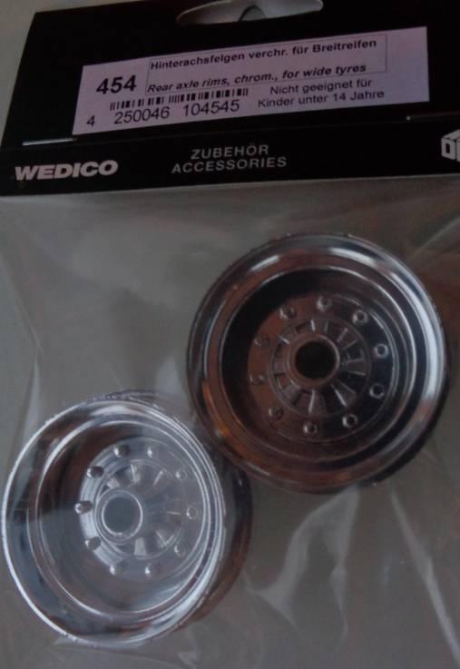 Wedico-Hinterachsfelgen verchromt für Breitreifen