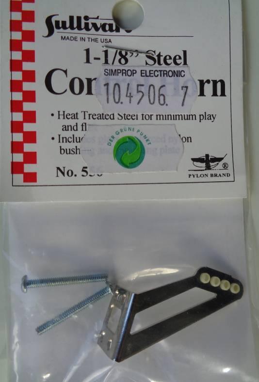 Ruderhorn Stahl 29 mm, 1 Stück