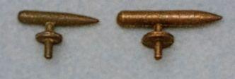 Bootsklampen Metall brüniert, 15 mm lang, 2 Stück