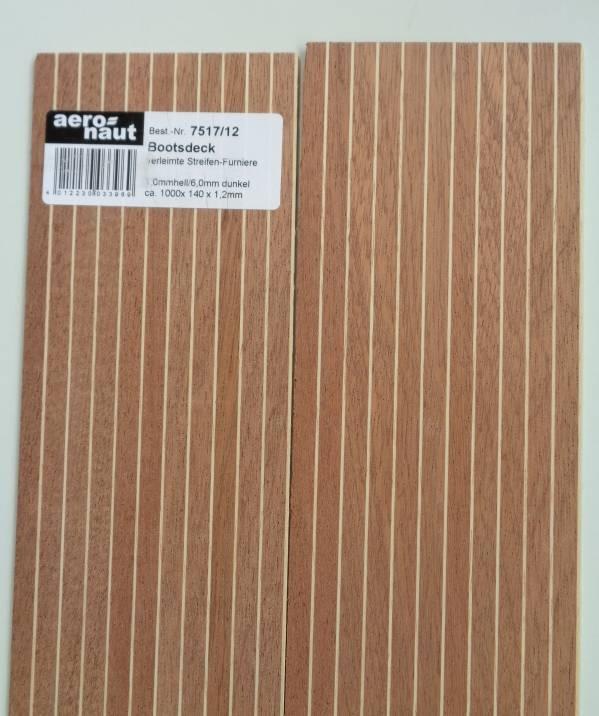 BOOTSDECK 1,0h/6,0d, Länge 1 m, Breite 15 cm (2 x 7,5 cm)