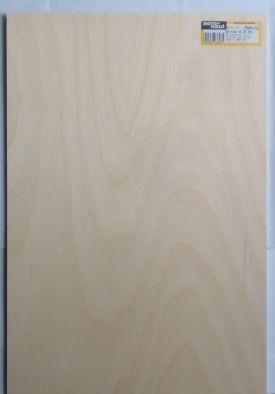 Birken-Sperrholz 600 x 300 x 3.0 mm, 3-fach verleimt