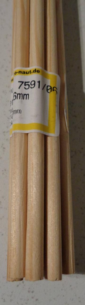 Kiefer-Rundstab Ø 6 mm, 1 m lang