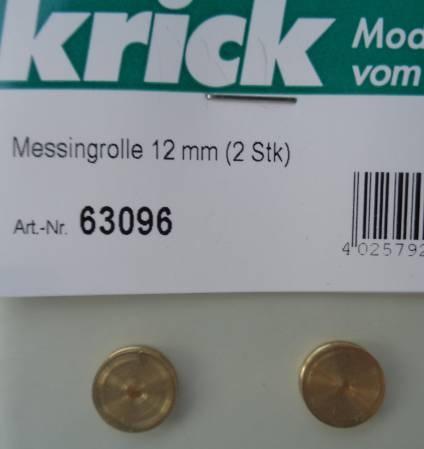 Messingrolle 12 mm (2 Stk)