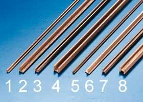 Holzprofil gerade L 2x2x500 mm (2 Stück)