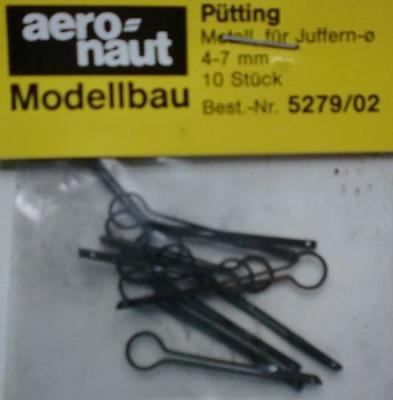 Pütting, Metall brüniert, für Juffern-Ø 4 - 7  mm, 10 Stück