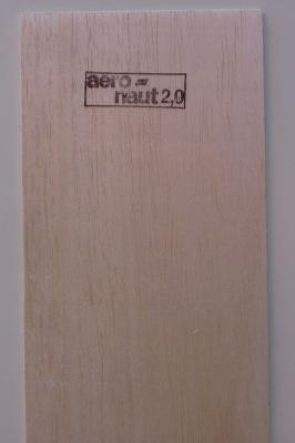 Balsabrettchen 2.0 mm stark, 10 cm breit, 1 m lang
