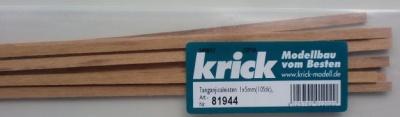 Tanganjicaleisten 1 x 5mm, 1 m lang, 10 Stück