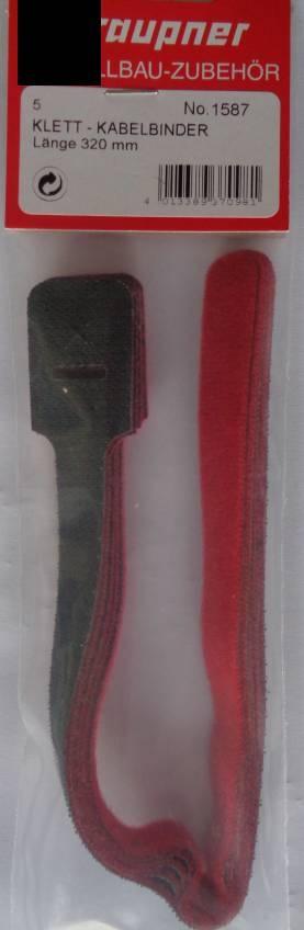 Klett-Kabelbinder Länge 320 mm, 5 Stück,