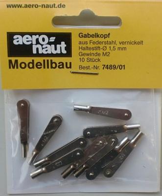Gabelkopf M2 Metall, 10 Stück