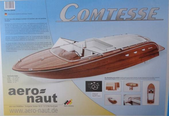 Comtesse Luxusyacht,  Länge 125 cm - Neuheit -