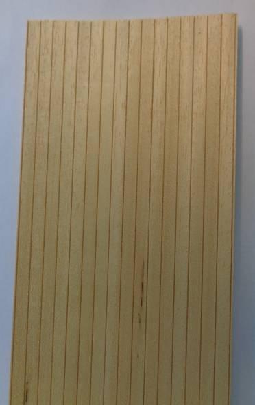 10 Stück Nutbretter (f.Bootsdeck) 10x100 cm, Nutabstand 5 mm