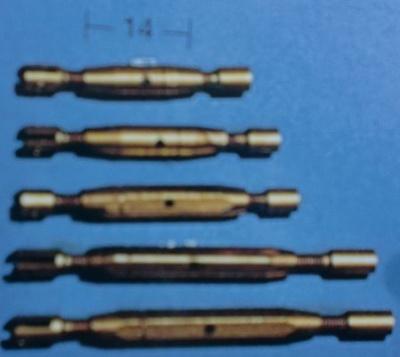 Spannschrauben (Messing) G/H 14 mm, 5 Stück