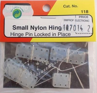 Nylon Scharniere , Breite 11 mm, Länge 28 mm, 6 Stück