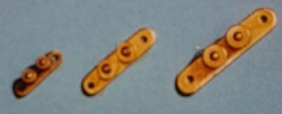 Doppelpoller, Messing, 12 mm lang, 6 Stück