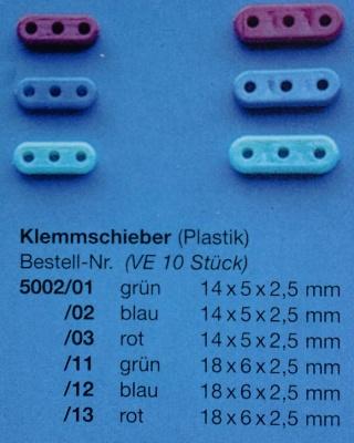 Klemmschieb.14mm blau
