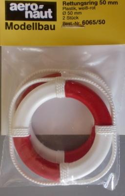 Rettungsringe Ø 50 mm, weiß/rot