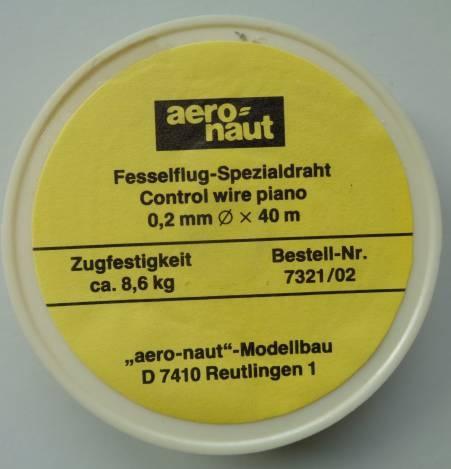 Fesselflugdraht  Ø  0.2 mm x 40 m