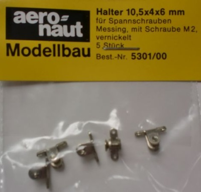 Halter für Spannschrauben 10 mm, m. Schr. M2