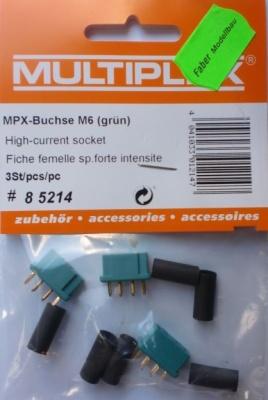 MPX-Buchse M6 (grün) 3St.
