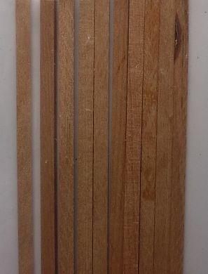 BUCHEN-Vierkantleisten  2 x 8 mm, 1 m lang, 10 Stück