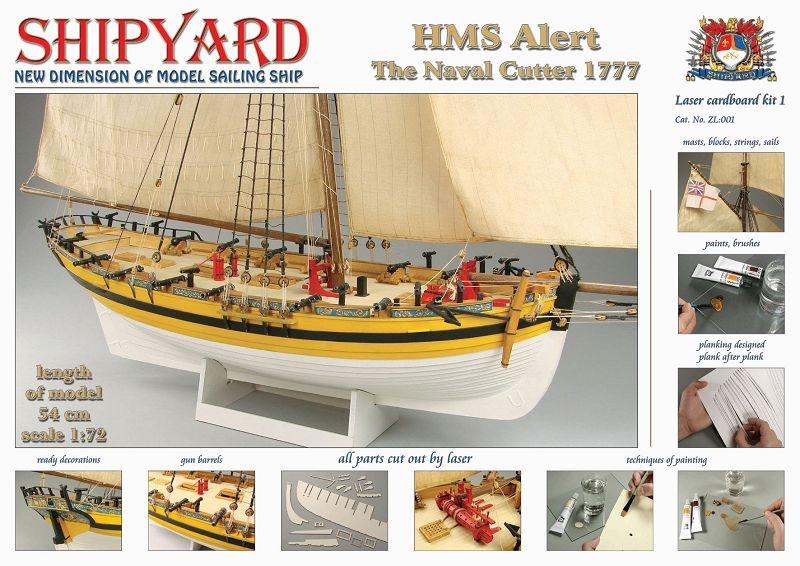 HMS Alert 1777 Laser Kartonbausatz