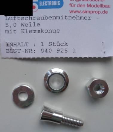 Luftschraubenmitnehmer - 5,0 Welle, 8 mm Bohrung