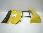 SCANIA-Dachspoiler, gelb + Windleitbleche +