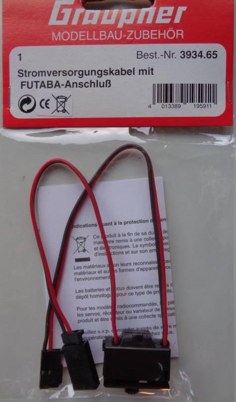 FUTABA Empfänger-Schalterkabel mit Ein-/Aus-Schalter