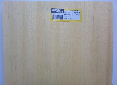 Abachi-Furnier 1000 x 250 x 0 .7 mm,  5  Stck.