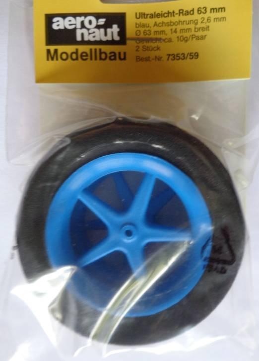 Ultraleicht-Modell-Räder, Ø 63, Breite 12mm, blau