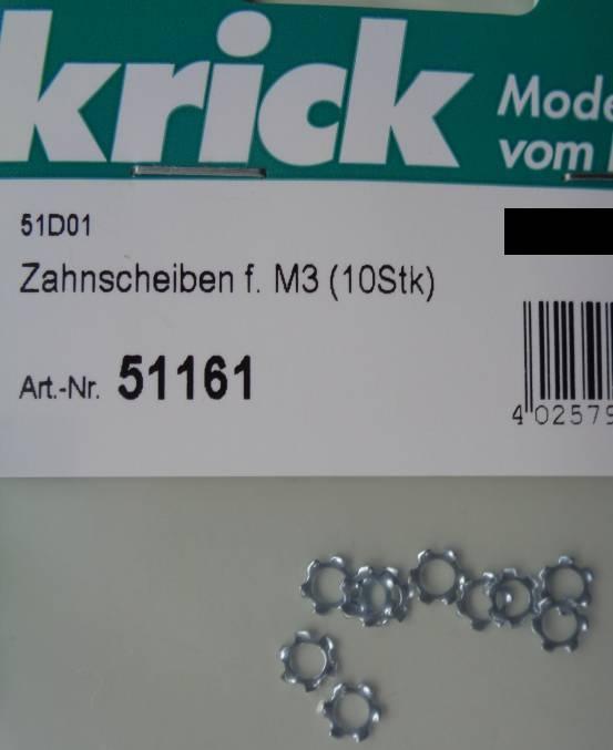 Zahnscheiben f. M3 (10Stk)