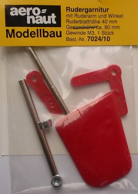 Rudergarnitur 40x33mm, Gesamthöhe 80 mm