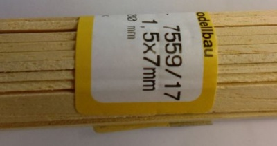 ABACHI-Vierkantleisten  1,5 x 5 mm, 1 m lang, 10 Stück