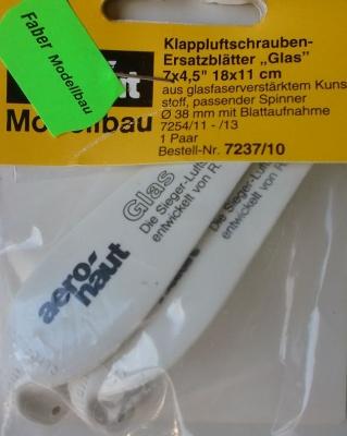 Klappluftschrauben-Ersatzblätter  Glas 18,0x 11,0