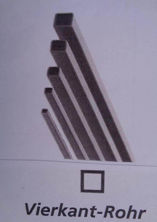 CfK-Vierkantrohr 3,0 x 2,0 mm, 1 m lang