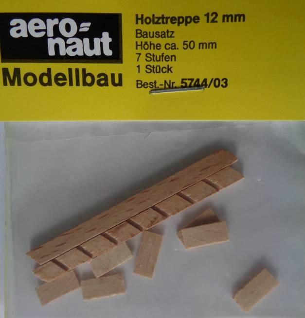 Holztreppen-Bausatz, 50 mm hoch, 12 mm breit, 7 Stufen