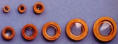 Bullauge Ms Ø 16mm, innen 11 mm, 10 Stück